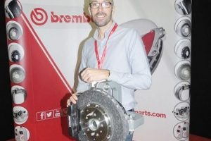 Man accepts award for Brembo.