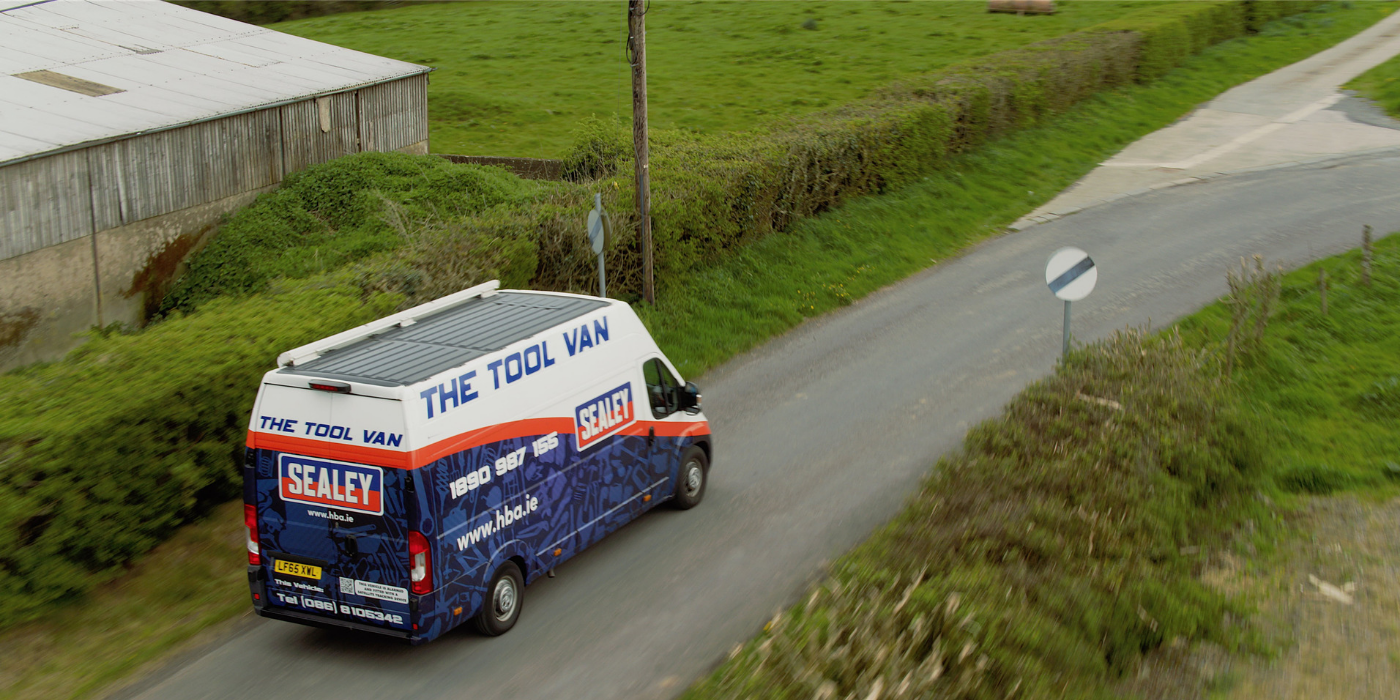 The Sealey Tool Van driving through Ireland.