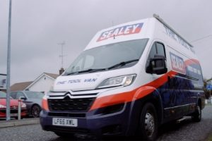 Sealey tools van.