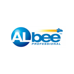 Albee gas brand logo with blue text on white background.
