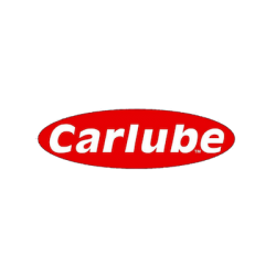 Carlube brand logo with white text on red background.