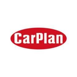 CarPlan brand logo with white text on red background.