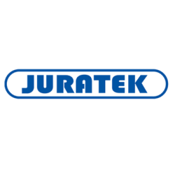 Juratek brand logo with blue text.