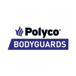 Polyco bodyguards brand logo with black text on white background.